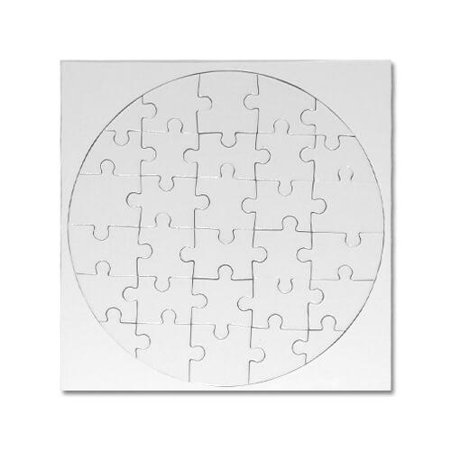 Puzzle kruh 205mm 25dílku