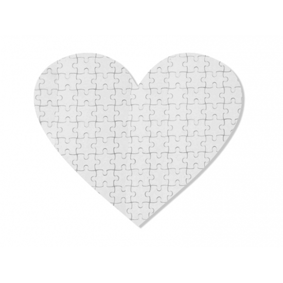 Puzzle srdce magneticke 195x195mm 75 dílku